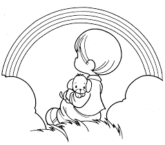 precious moment coloring pages boy rainbow precious