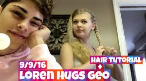 leo braiding hair loren beech hugs geo hair tutorial 9 9 16 leo youtube