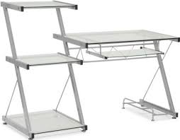 keyboard tray for glass desk zuo modern 277000 runner desk contemporary modern style glass