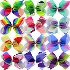 ribbon bows 12piece 8 inches grosgrain ribbon rainbow hair bows
