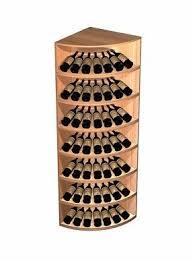metal corner wine rack foter
