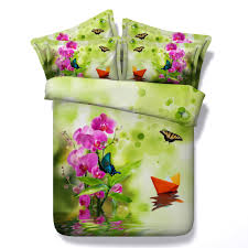 pink orchids and butterfly spa theme 3d bedlinen set buy spa