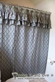 Frilly Shower Curtain Decorate My Home Part 17 Ruffled Shower Curtain Make It And