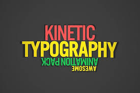 kinetic typography after effect templates creative market