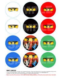 ninjago cupcake toppers or favor tags 3 00 via etsy lego