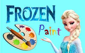 how to draw frozen colour paint kindergarten children learn