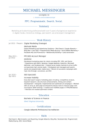 Accenture Resume Builder Digital Marketing Strategist Resume Samples Visualcv Resume