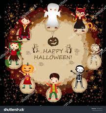 illustration kids halloween costumes stock vector 145406716