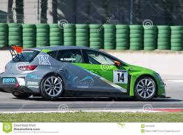 lexus v8 racing euro v8 series lexus isf driven at monza editorial photography