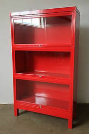 Vintage Bookcase With Glass Doors Vintage Steel Barrister Bookcases Free By Theretrofuturist This