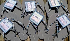 flip flop wedding favors custom quotthese are your dancin39 shoesquot gift tag for flip