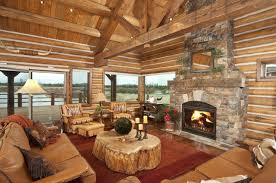cool log cabins cabin living room decor home design ideas