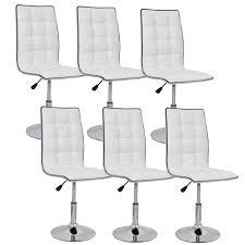lot de 6 chaises salle à manger leaf lot de 6 chaises de salle à manger blanches achat vente