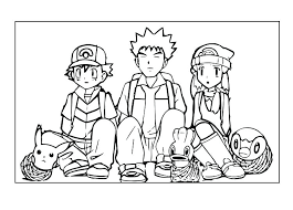 pokemon coloring pages misty pokemon coloring pages pikachu coloring pages ash and misty