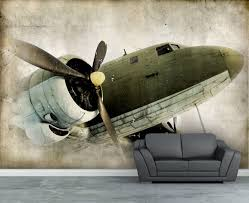 wall mural vintage retro propeller airplane wall paper wall wall mural vintage retro propeller airplane wall paper wall decal repositionable peel