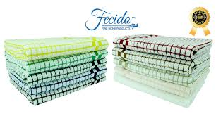 amazon com fecido classic kitchen dish towels with hanging loop