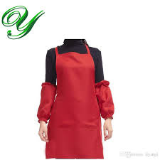 aprons with pockets sleeves chef apron kitchen cooking aprons