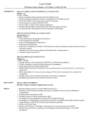 sap crm technical consultant resume oracle consultant resume samples velvet jobs