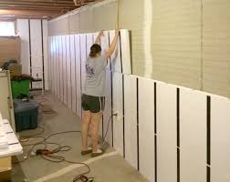 Basement Finished Beauteous No Drywall Basement Finishing Super Installing For Your