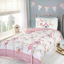 girls double bedding catherine lansfield canterbury red cream polka dot duvet bedding set