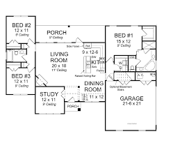one story open house plans one story open concept floor plans