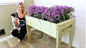 the elevated planter box easy diy project youtube