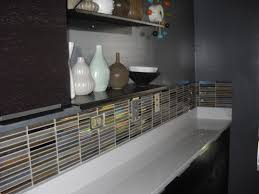innovative glass tile backsplash in bathroom best and awesome