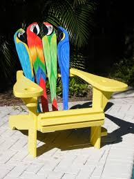 Skull Adirondack Chair Custom Adirondack Chair Parrot Design By Island Time Design
