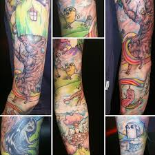 charming examples of adventure time tattoos
