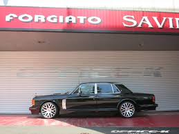 roll royce forgiato rolls royce silver spirit gets custom vented hood and forgiato