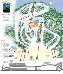 New York Area Map by Thunder Ridge Ski Area Of New York Ski And Snowboard Trail Map