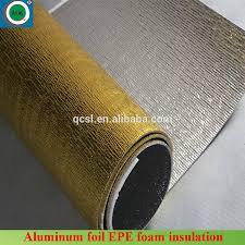 Underlay Laminate Flooring Gold Color Waterproof Laminate Flooring Foam With Aluminum Film