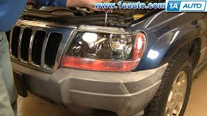 jeep grand style change how to install replace headlight jeep grand 99 04 1aauto