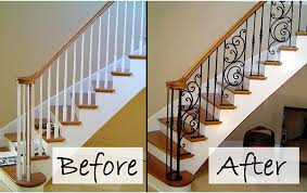 Wood Interior Handrails Interior Railing Metal Fabrication Aluminum Fabrication