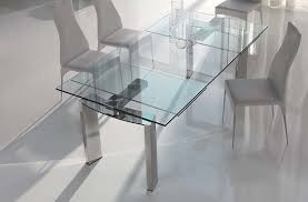 Glass Dining Room Furniture Expandable Glass Dining Table Set Dans Design Magz