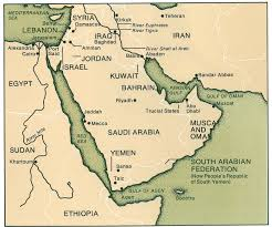 Middle East Map Capitals by The Middle East And The British Empire