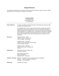 objective for internship resume cv cover letter accounting intern