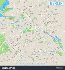 Berlin Map Berlin Map Navigation Icons Highly Detailed Vector Stock Vector