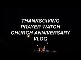 thanksgiving prayer church anniversary