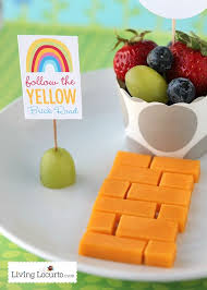 printable yellow brick road a healthy fun food idea and free rainbow party printables to go
