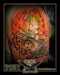 tony austin tattoos new tattoo spark plug with flames