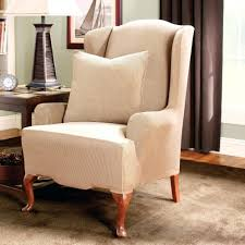 Stretch Wing Chair Slipcover 64 Sure Fit Wing Chair Recliner Covers Beautiful Wingback Chair