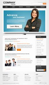 free business psd web template free psd web templates