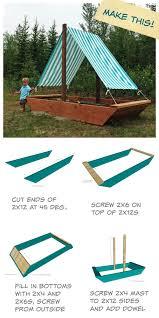 Backyard Sandbox Ideas White Sail Boat Or Ship Sandbox Diy Projects
