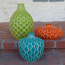 imax agatha ceramic vases set of 3 walmart com