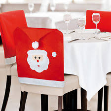 Chair Back Covers Santa Hat Felt Christmas Table Chair Covers Ebay