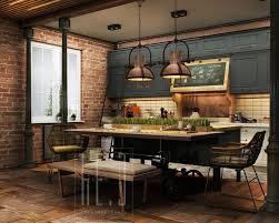kitchen industrial country style industrial kitchen design