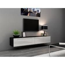 Meuble Tv Longueur Maison Et Mobilier D Intérieur Meuble Tv Design Suspendu Vito 180cm Blanc Salons Tvs And Tv