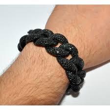 black diamonds bracelet images Diamond bracelet mens 58ct custom cuban link xl 22mm solid black jpg