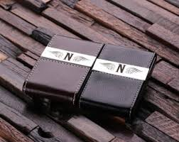 Leather Personalized Business Card Holder Business Card Holder Etsy
